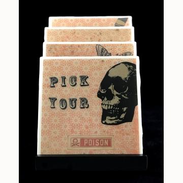 Pick Your Poison Coaster Set (Orange)