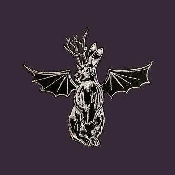 Embroidered Jackalope Bat Patch