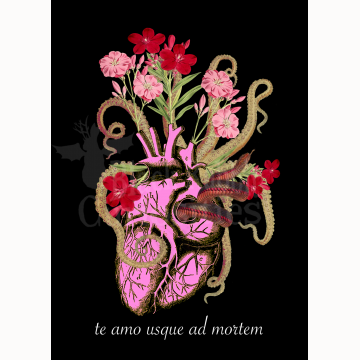 """5x7 """"I Love You To Death"""" Print"""